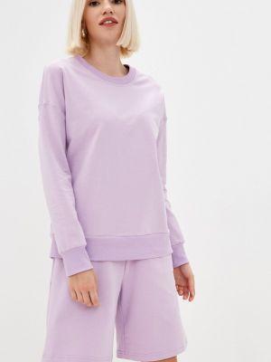 Фиолетовый спортивный костюм летний Gloss