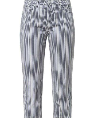 Niebieskie spodnie w paski bawełniane Brax