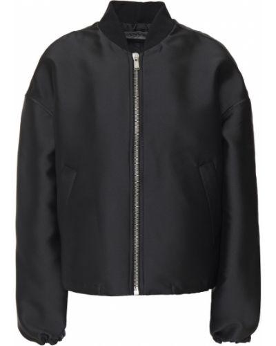 Текстильная черная куртка с карманами Lanvin