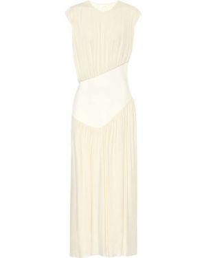 Белое платье миди из вискозы The Row