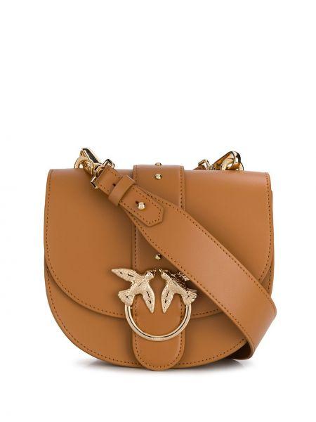 Skórzana torebka klasyczny brązowa Pinko