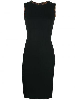 Черное приталенное платье без рукавов из вискозы Dolce & Gabbana Pre-owned