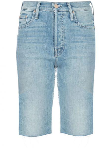 Джинсовые шорты с завышенной талией с карманами Mother
