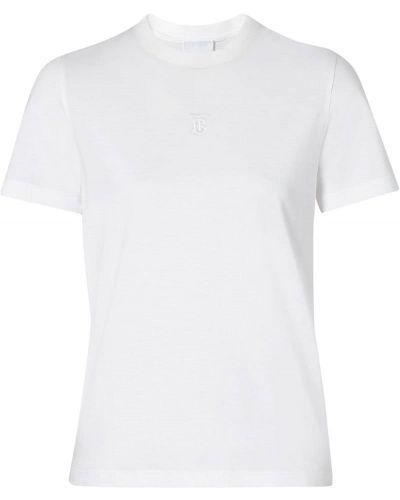 Футболка белая с вышивкой Burberry