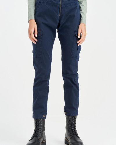 Синие брюки на кнопках Aeronautica Militare