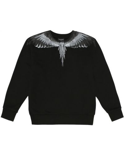 Czarna bluza bawełniana Marcelo Burlon Kids Of Milan