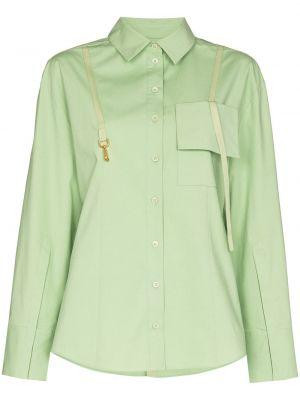 Koszula nocna z wiskozy - zielona Jacquemus