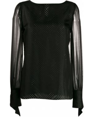 Блузка прозрачная черная Karl Lagerfeld