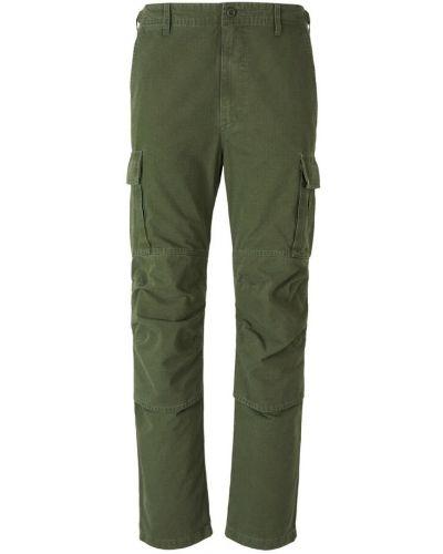 Zielone spodnie zapinane na guziki Balenciaga