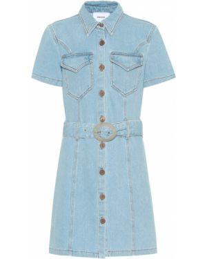 Летнее платье джинсовое мини Nanushka