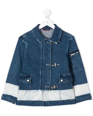 Серебряная джинсовая куртка Fay Kids