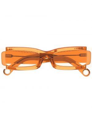 Pomarańczowe okulary z printem Jacquemus