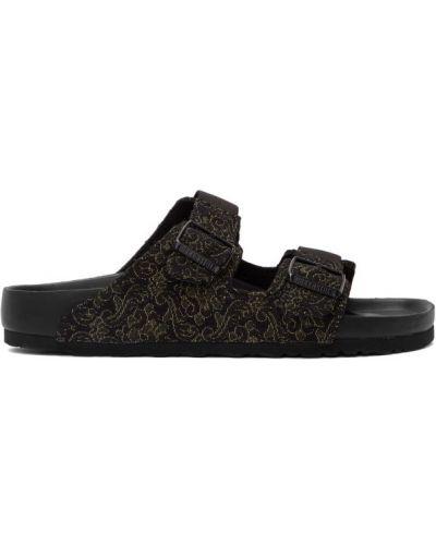 Открытые черные кожаные сандалии Random Identities