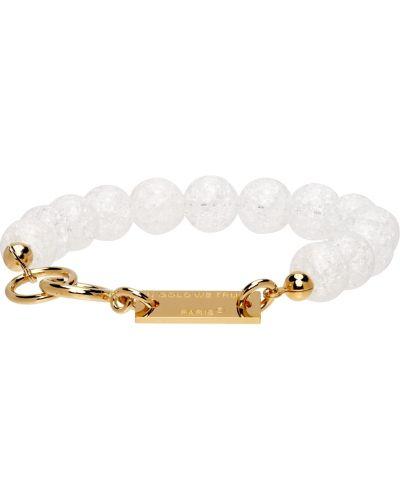Złota bransoletka - biała In Gold We Trust Paris