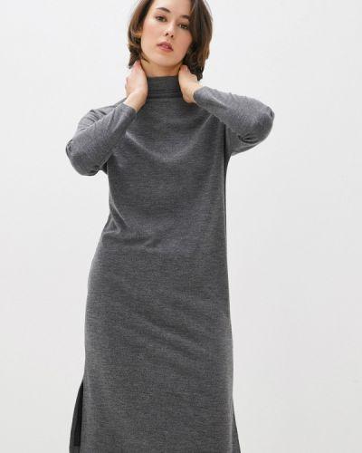 Серое вязаное трикотажное платье Base Forms