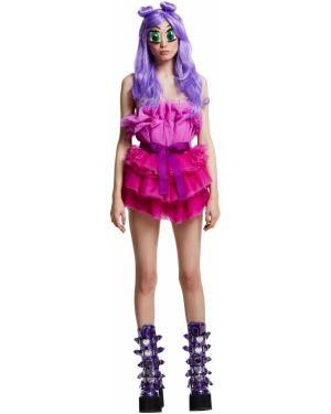 Sukienka mini z falbankami z tiulu Teenidol