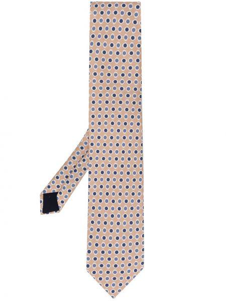 Желтый шелковый галстук Corneliani