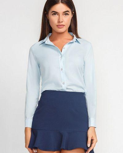 Голубая рубашка с длинным рукавом Gepur