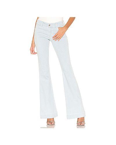 Широкие джинсы расклешенные с эффектом потертости J Brand