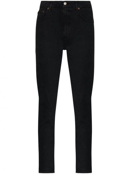 Bawełna bawełna czarny jeansy Agolde