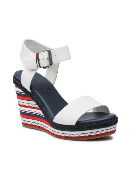 Białe sandały espadryle Tommy Jeans