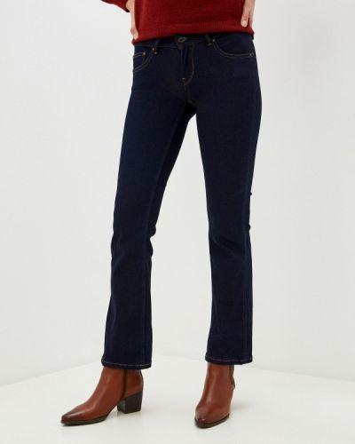 Синие расклешенные широкие джинсы Pepe Jeans