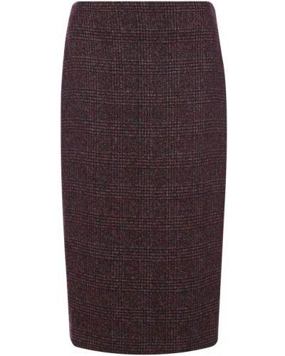 Вязаная юбка шерстяная шелковая Kiton