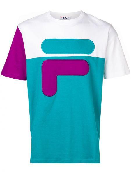 Koszula krótkie z krótkim rękawem fioletowy karmazynowy Fila