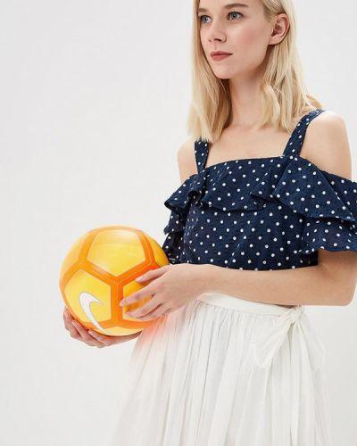Синяя блузка с рюшами Ovs