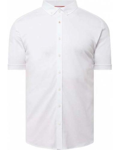 Biała koszula slim krótki rękaw bawełniana Desoto