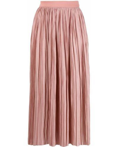 Розовая с завышенной талией плиссированная юбка миди Roberto Collina
