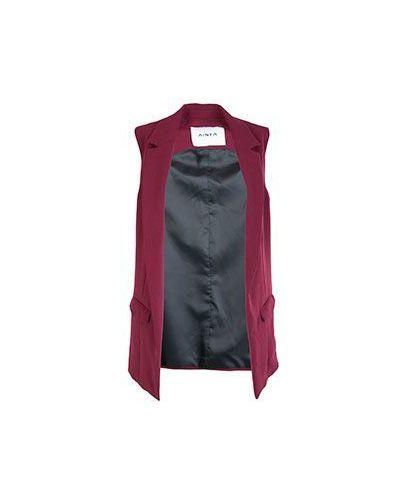 Красная шерстяная жилетка Ainea
