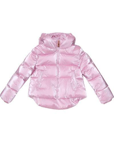 Розовое зимнее пальто металлическое Monnalisa