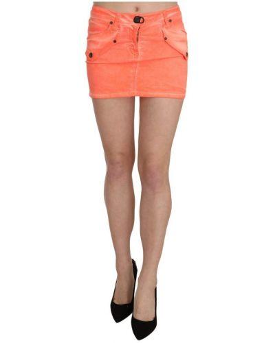 Pomarańczowa spódnica mini Plein Sud