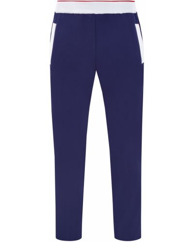 Хлопковые синие спортивные брюки с карманами Bertolo Cashmere