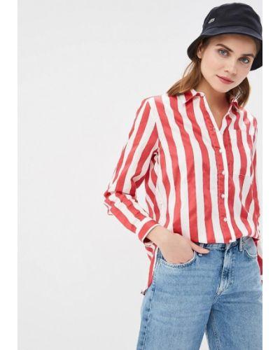 Красная с рукавами джинсовая рубашка Pepe Jeans