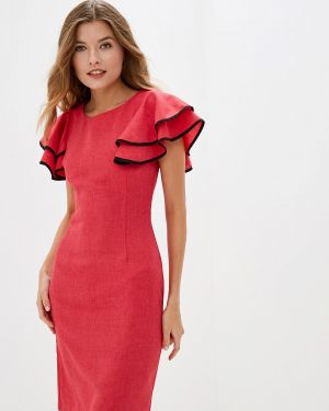 Платье прямое красный Maurini