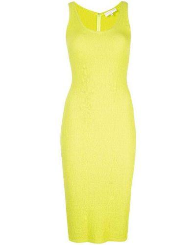 Приталенное платье миди - зеленое Christian Siriano
