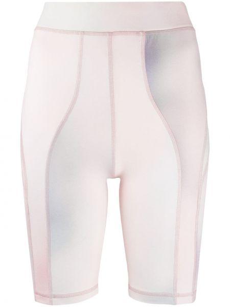 Розовые шорты с поясом со вставками Wood Wood