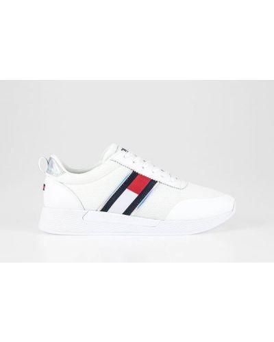 Białe tenisówki sznurowane na co dzień Tommy Jeans