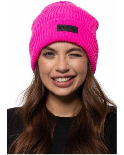 Prążkowana różowa czapka z akrylu Jungmob