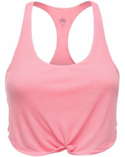 Różowy top Alo Yoga