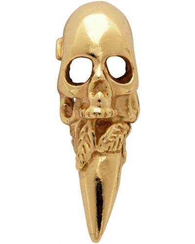 Серебряные серьги золотые с черепами Emanuele Bicocchi