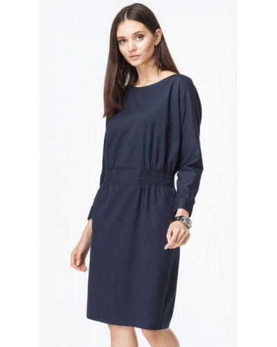 Повседневное платье осеннее синее Vilatte
