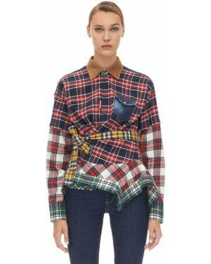 Рубашка вельветовая с завязками Dsquared2