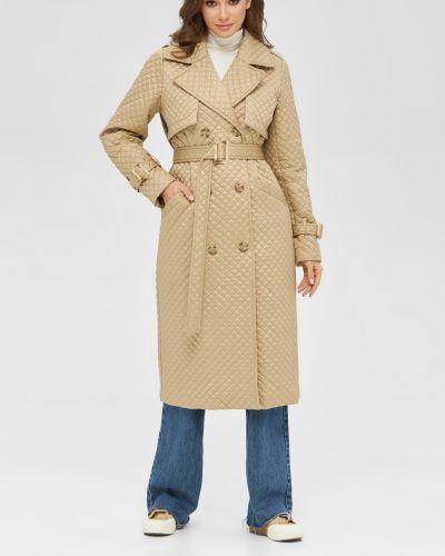Стеганое пальто - бежевое Mila Nova