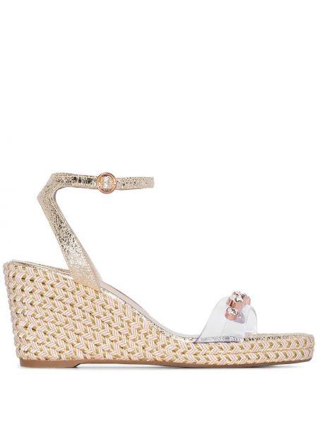Sandały na koturnie skórzany z klamrami Sophia Webster