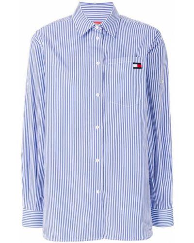 Классическая рубашка в полоску с длинным рукавом Tommy Hilfiger