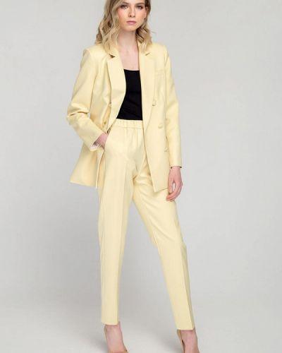 Желтый костюмный брючный костюм Fors
