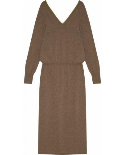 Платье миди со складками облегающее Tegin